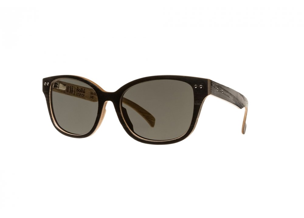 Made from French wood species, with anti reflection lenses that come both standard or polarized.