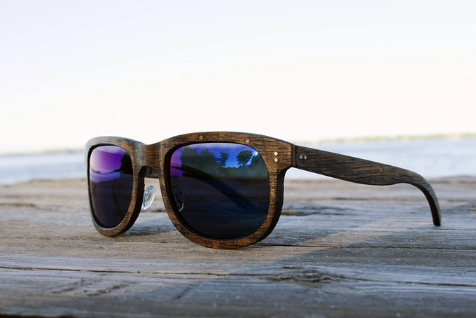 LochEffects is a Kickstarter we're all cheering for. These sustainable wooden sunglasses are made without cutting down a single tree. Instead, the timber is taken from the bottom Canadian Great Lakes. The wood actually gets stronger as it sits at the bottom of the lake. Cool, right?