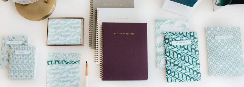 Each product you buy from Marie Mae provides one hour of business education for women in emerging markets through the Marie Mae Business School. Mae Designs ALSO gives you the option to customize your notebook on eco-friendly paper, even turning it into an adult coloring book.