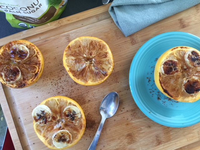 Upgraded Broiled Grapefruit with Coconut Sugar