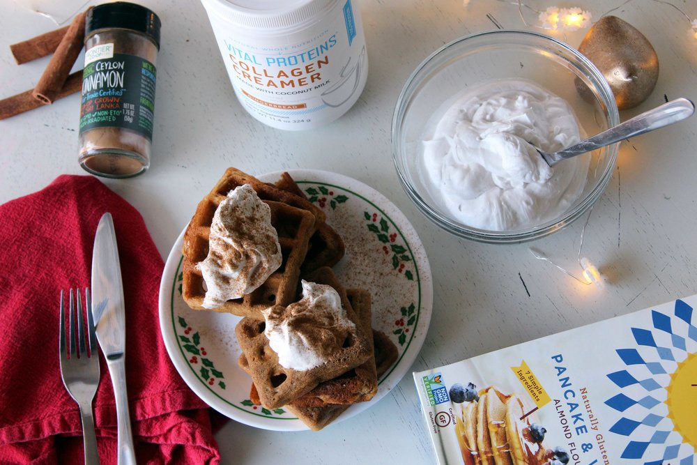 Gluten-Free Christmas Morning Gingerbread Waffle Recipe