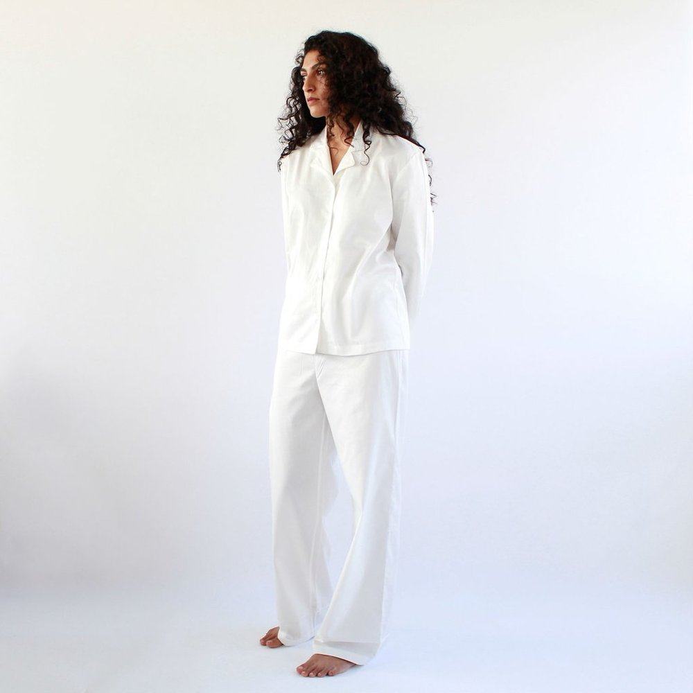 This crisp, white Pyjama Suit from The Summer House will have you feeling like you're sleeping on the clouds.