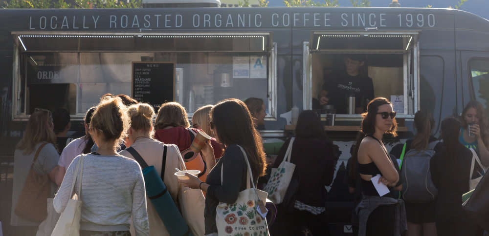 Organic coffee from Groundworks Coffee Truck!