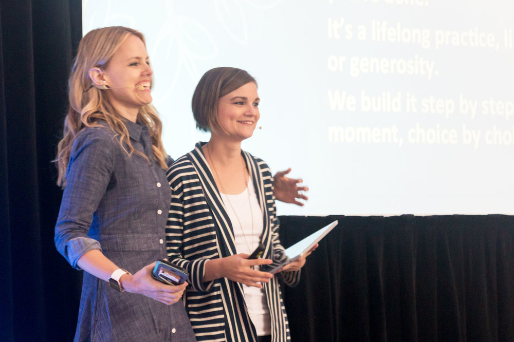 hEATHER (r) and Jennifer (L), SISTERS AND CO-FOUNDERS, SHE Changes Everything