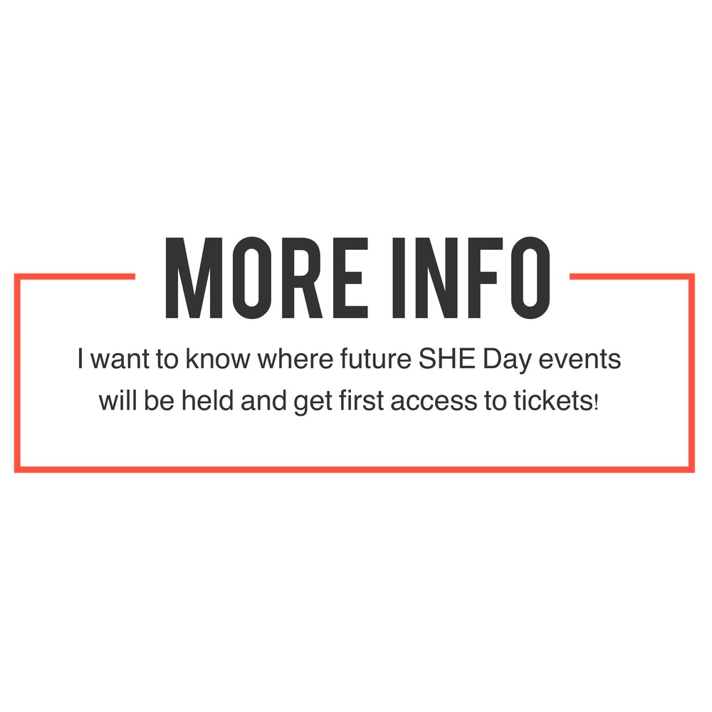 Keep me posted with future sustainable, healthy, ethical SHE Day women's events will be held!