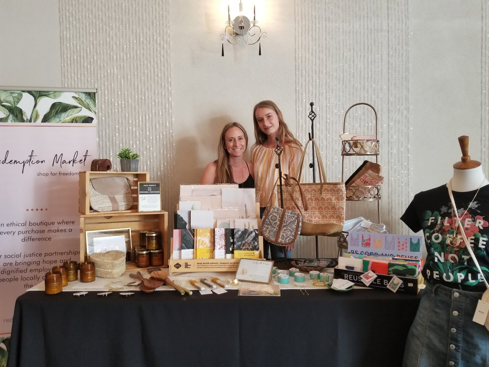 Rhonda and her daughter! Can't tell they are related at all ; ) Every item in this specially curated shop helps you shop for freedom and make an impact with your purchase! @REDEMPTIONMARKET