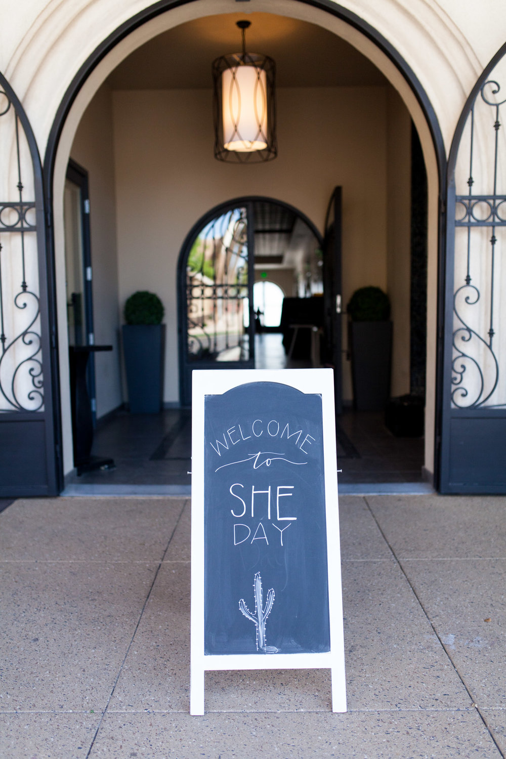 Custom chalkboard art for the event was provided by Etchings by Emma (@etchingsbyemma), a talented hand letterer located in Chandler, AZ. If you're having an event or shower, you'll love what she can create for you! PHOTO: @ERICAMCNICOLPHOTOGRAPHY