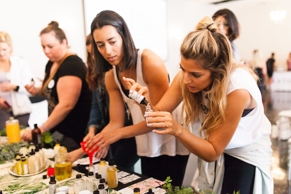 Take Care Beauty Co. did a workshop over lunch where women could make their own skincare from scratch! PHOTO: @ERICAMCNICOLPHOTOGRAPHY