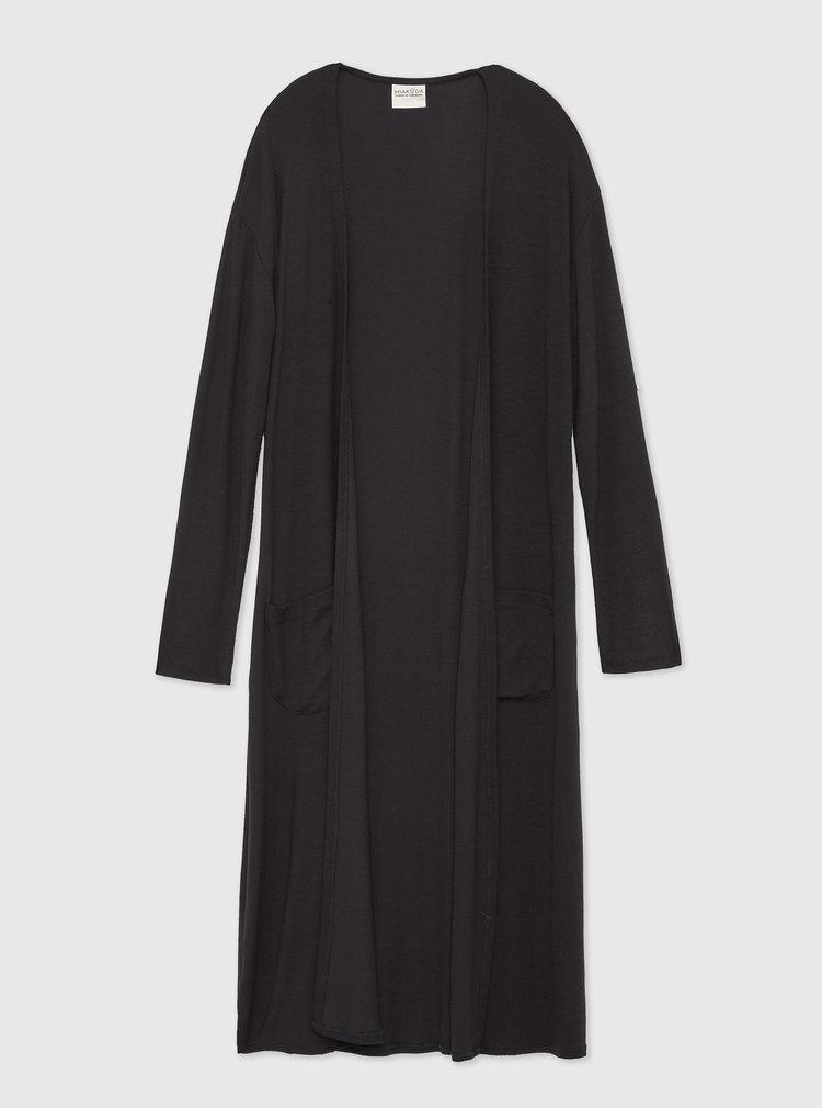ethical long black cardigan