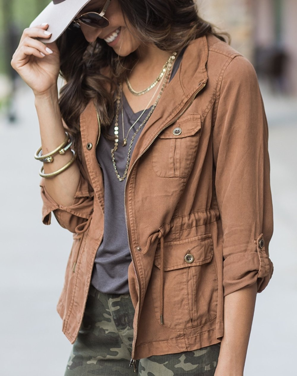 This cargo jacket from Elegance Restored is 1 of 4 different colors you can get it in!