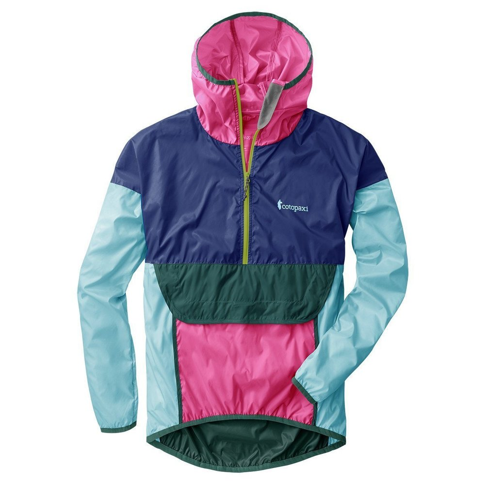 """A colorful windbreaker from Cotopaxi is perfect for when """"it wouldn't be so bad if it weren't for the wind."""""""
