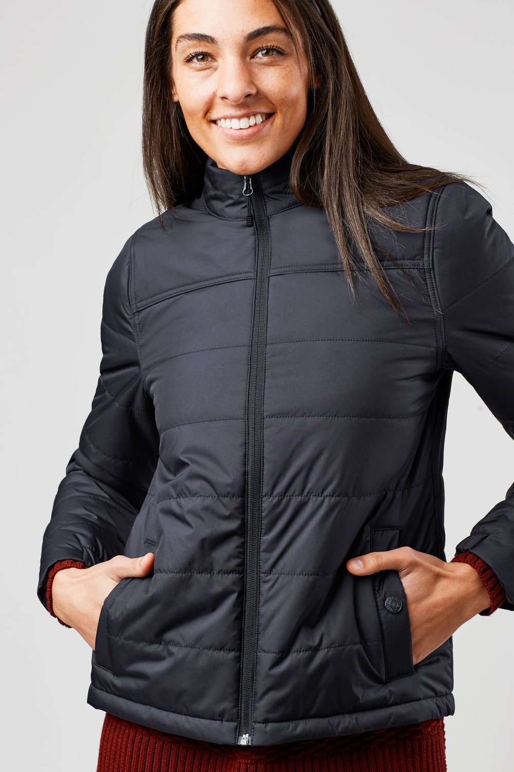 This thin jacket from United By Blue doesn't look like it can keep you warm in single-digits, but it's unique bison fiber insulation can handle it!