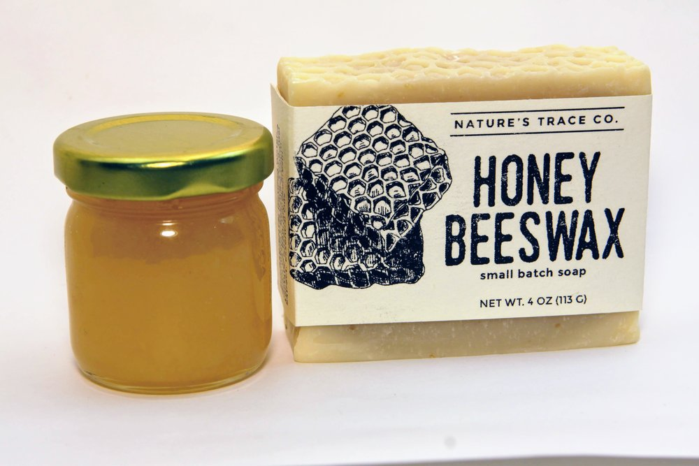 Rachel is the daughter of a beekeeper and has been keeping hives with her husband for 4 years so  this beeswax soap  was one of the first recipes she worked to formulate when she started making soap! The raw honey gives the soap a wonderful lather and the slightest lingering honey scent, the beeswax makes a nice hard long lasting bar, and the oatmeal gives an ever so gentle exfoliating scrub. This is all our favorite things about soap wrapped up into one bar!