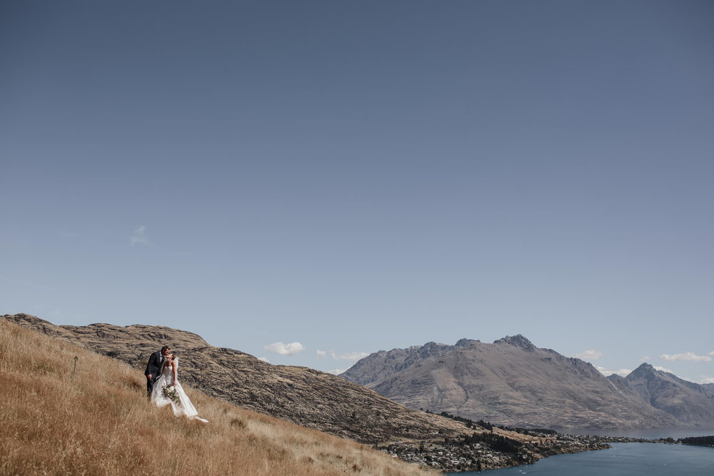 Liz + Campbell's NZ High Country wedding photos, Queenstown New Zealand
