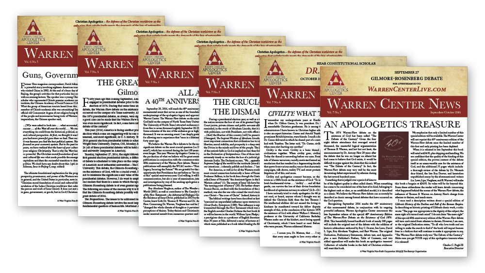 Warren Center News: Is Apologetics A Fleeting Fad or a Permanent Property?