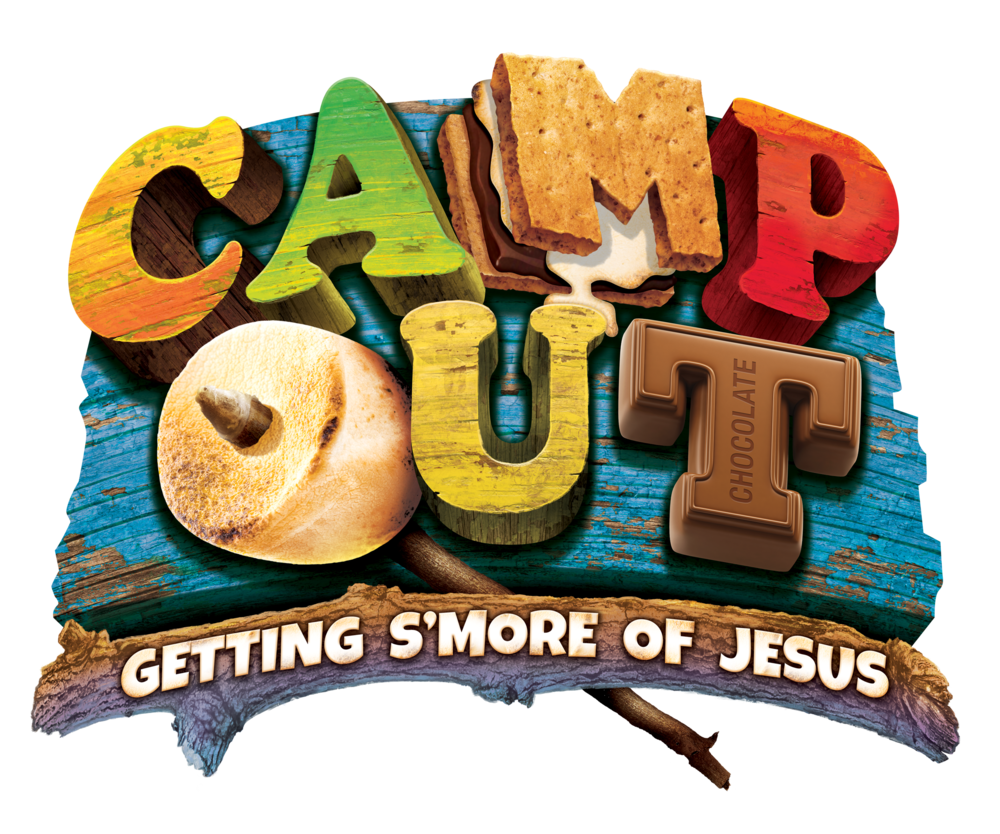 """AT CAMP OUT VBS, Kids will trek through an outdoor adventure- minus the bug spray and lack of sleep! They'll kindle friendships and help discover that Jesus is the light of the world. Bible Point: Jesus is the light! Bible Verse: Jesus said, """"I am the light of the world."""" John 8:12 Day 1 Bible Story: Jesus' life showed God's love. John 1:3-9; Luke 17:11-19; John 13:1-17 Day 2 Bible Story: Jesus dies and comes back to life. Luke 23:1- 24:12"""