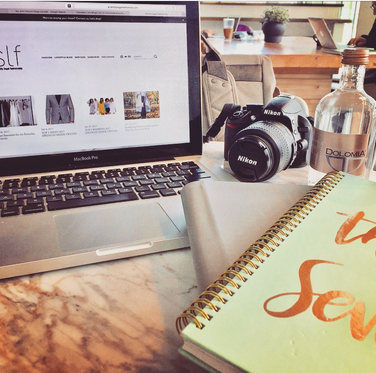 I love being in creative space when I'm developing new blog content.
