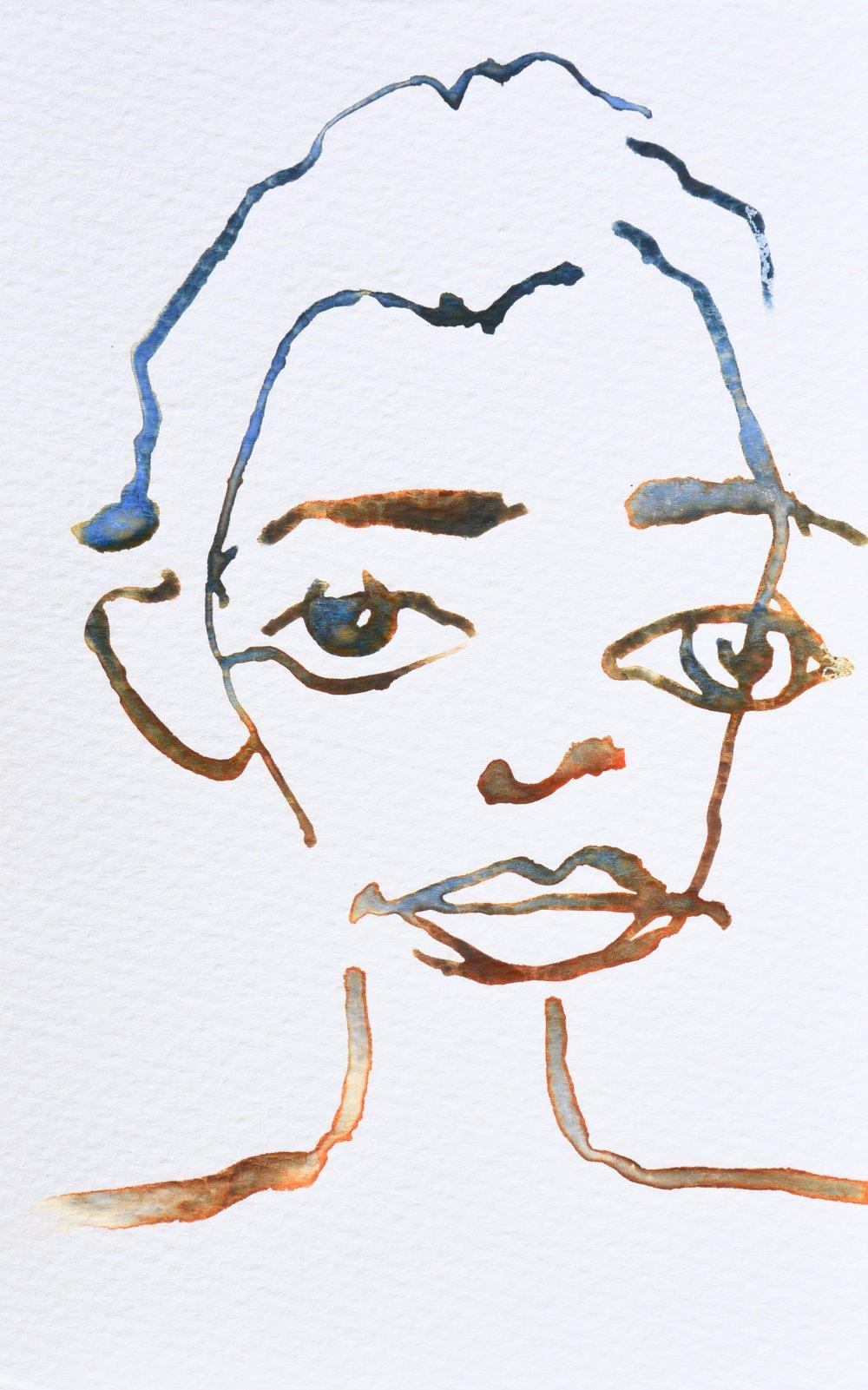 rossadilisk , 2016. Watercolor. 8 x 5 in.