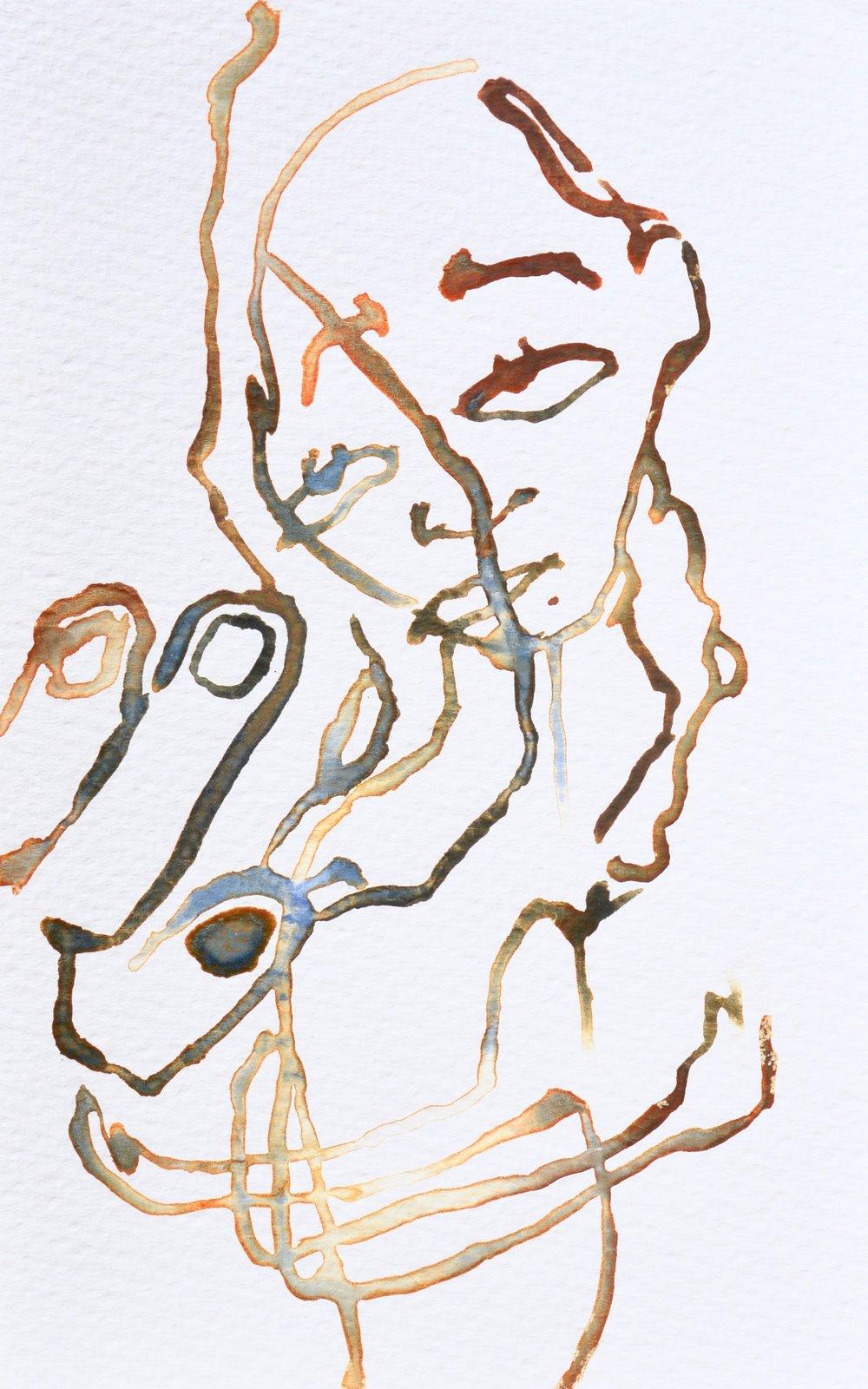 emlagh , 2016. Watercolor. 8 x 5 in.