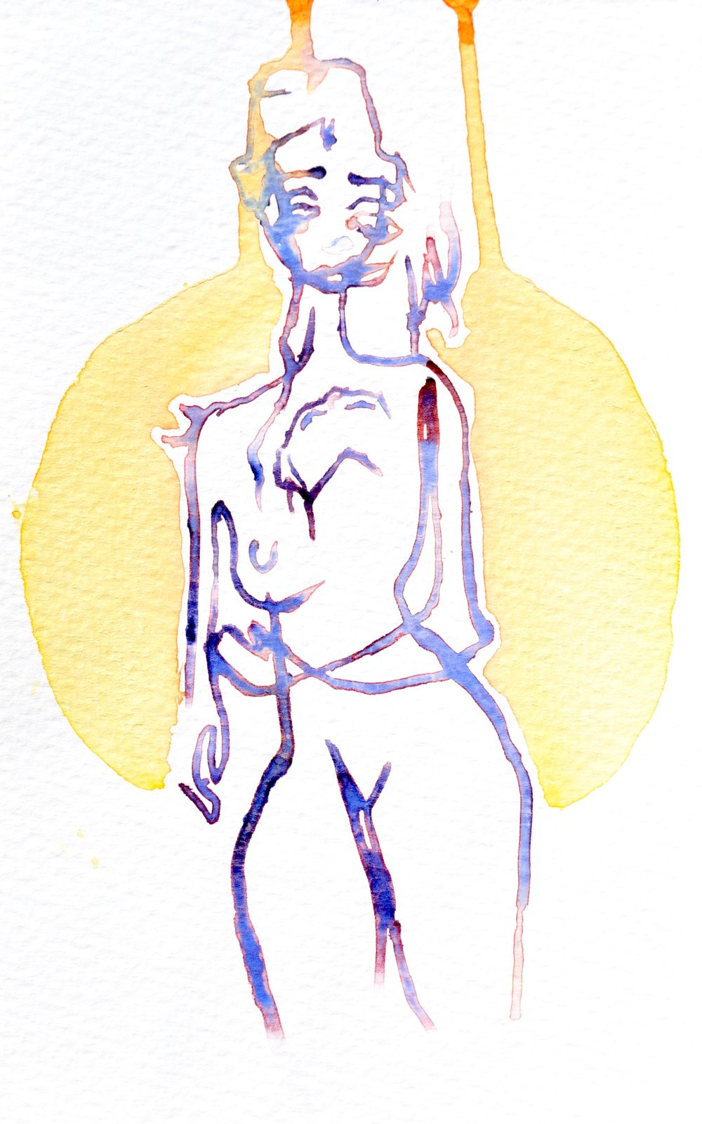 drip , 2016. Watercolor. 8 x 5 in.