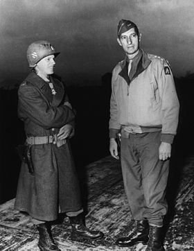 Historical photo of David Waybur Receiving the Medal of Honor in WWII.  Photo Credit: Unknown