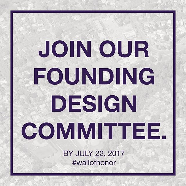 Join our founding design committee! Sign up on our website - link in bio. 🇺🇸 #wallofhonor #piedmontwallofhonor