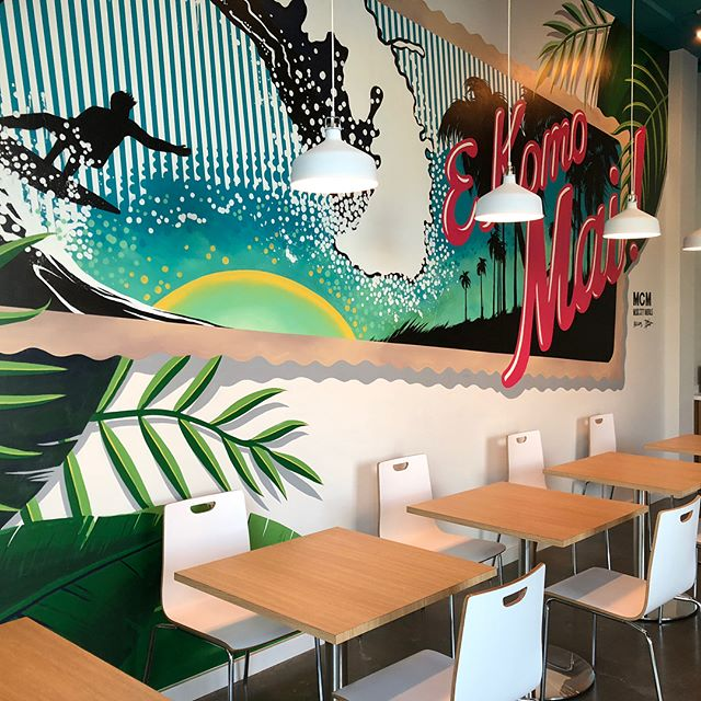 Congratulations to our favorite client @kawaipokeco on their grand opening! Everyone needs to try their amazing poke bowls! Check them out @ 901 Woodland St in East Nashville. Shoutout to @sw_designgroup and @musiccitymurals for the design work #pokebowl #eastnashville #nashville #construction #restaurant