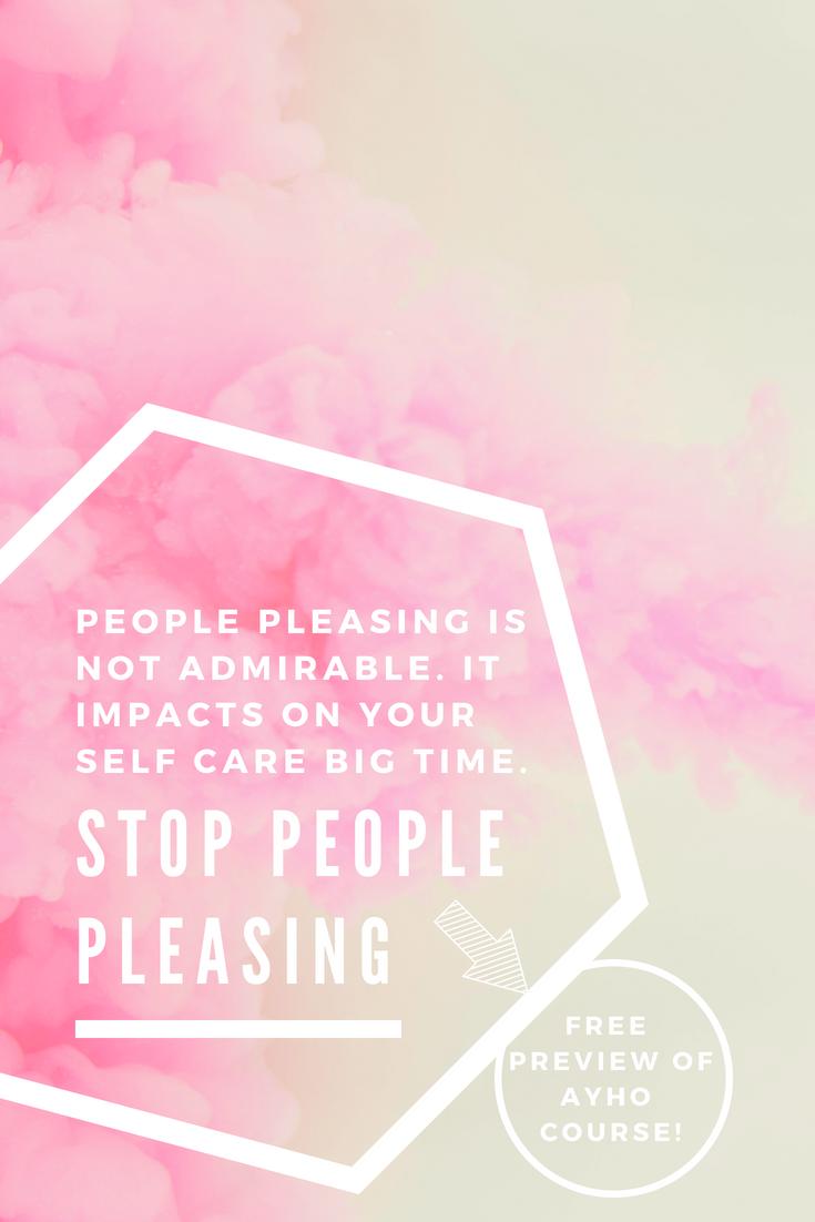 STOP PEOPLE PLEASING