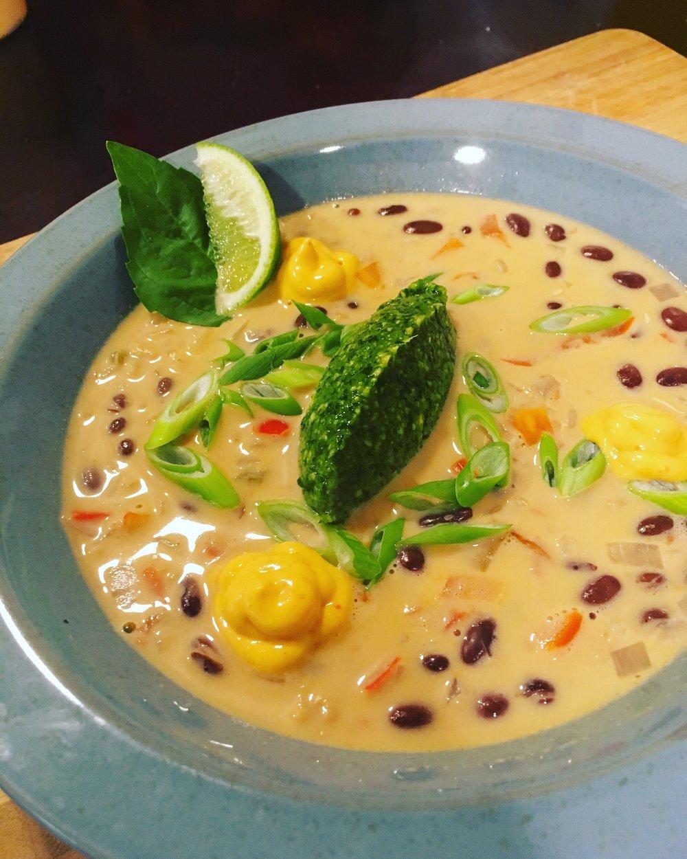 Black Bean Coconut Soup