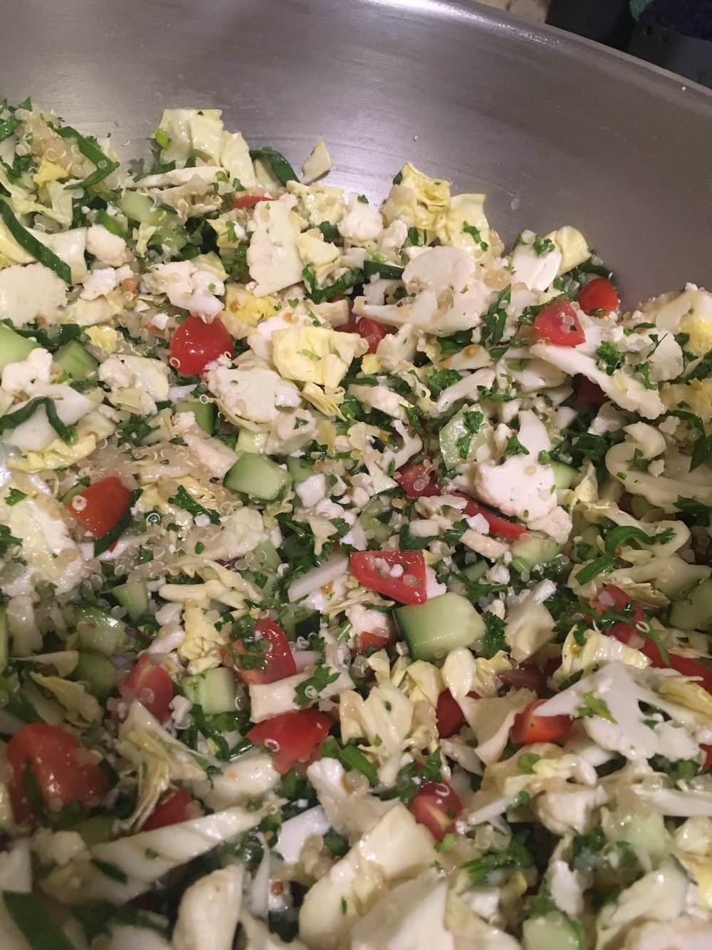 Cauliflower Quinoa Tabouleh
