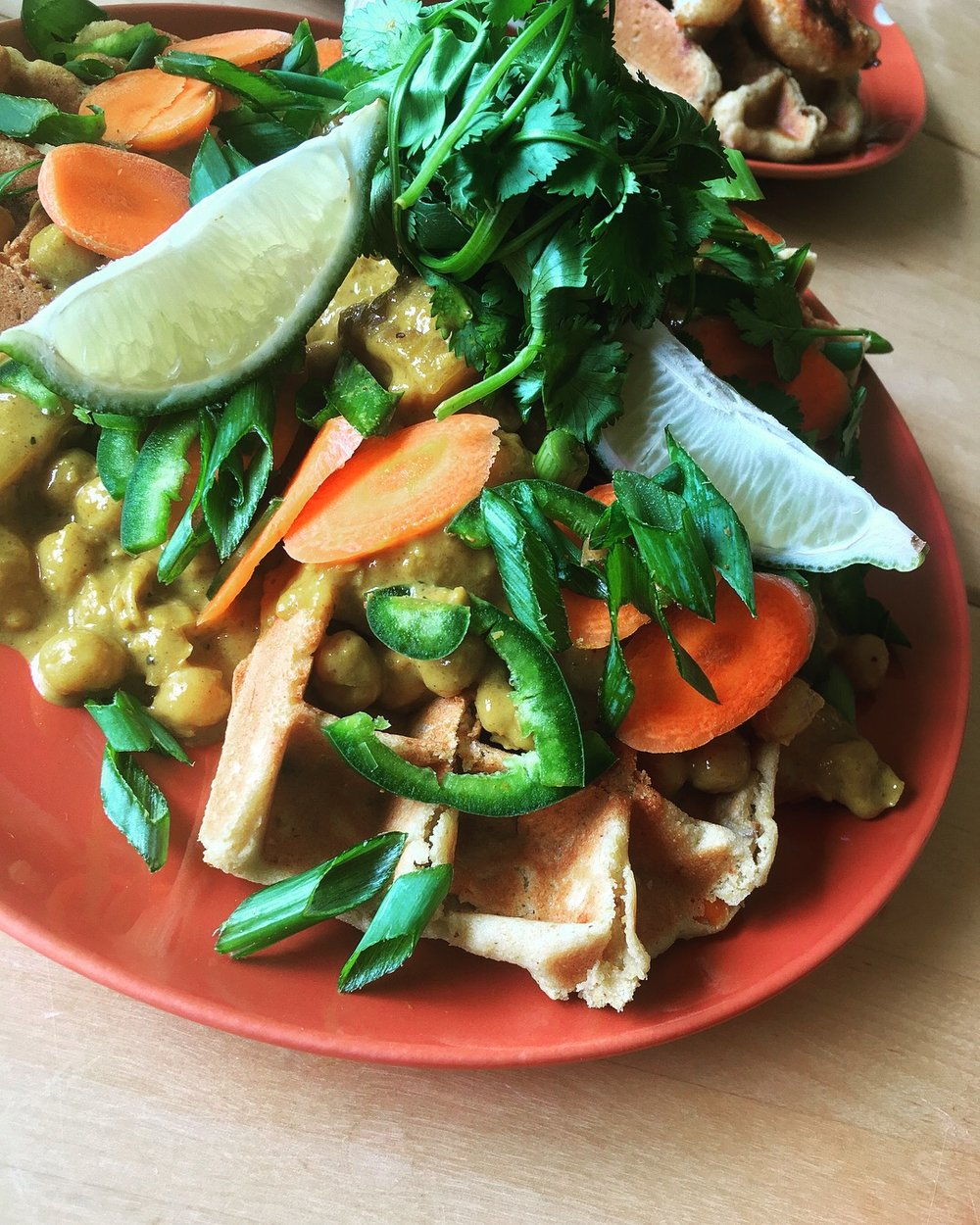 Curry Coconut Waffles