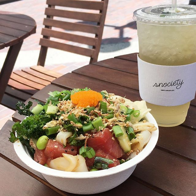 Mint & Thyne Lemonade + Small Poke Bowl combo. Only $12.50 during @niseiweek 2017. #niseiweek2017 #littletokyo #shoplocal #dtla