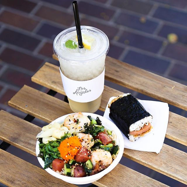 Fall special! Get a small poke bowl, spam musubi, and a drink for $12.75! Premium drinks just $1 more. While supplies last. 🔥#pokeandboba