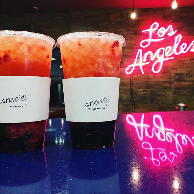 Valentines weekend. Mint and thyme strawberry lemonades. With boba. @snocietyla #pokeandboba #littletokyo #losangeles