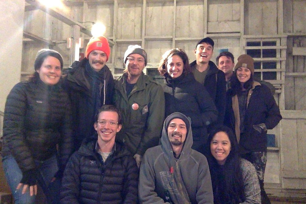 Wassaic Project residents!  It's cold in the barn as you can see.