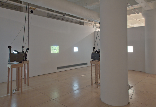 (Install view 4) Waterfall, 16mm film installation Gallery 400, Chicago IL