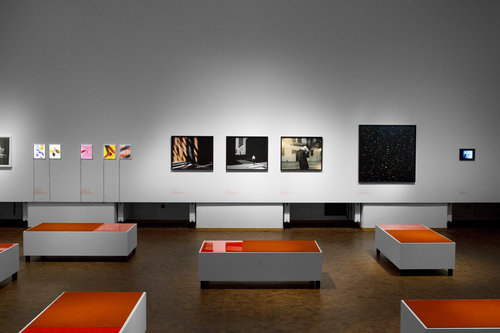 Installation view 6 Contemporary artists included in the museum exhibition: Assaf Evron, Raquel Ladensack Voakes, Clarissa M Bonet, Sonja Thomsen, Doug Fogelson, Amy Yoes. Bauhaus Archiv Museum, Berlin Germany