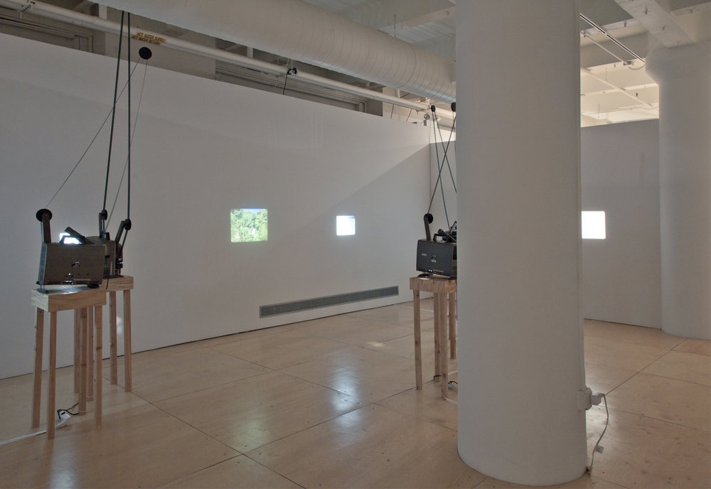 Waterfall, 2011 (view 3) 6-projector 16mm film installation Gallery 400, Chicago IL 2011