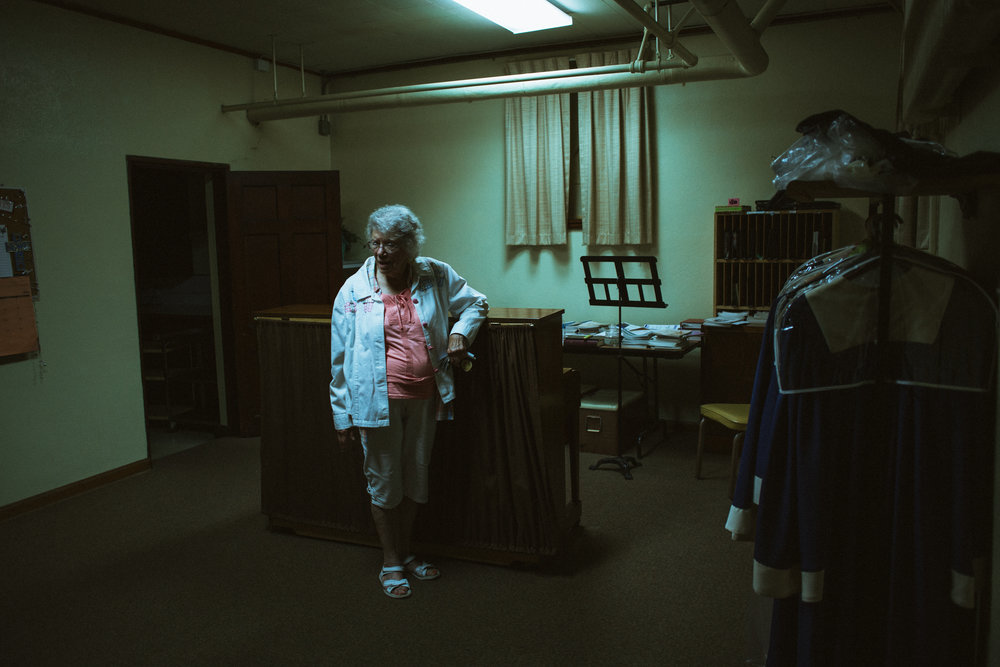 Standing in the basement of the First Congregational