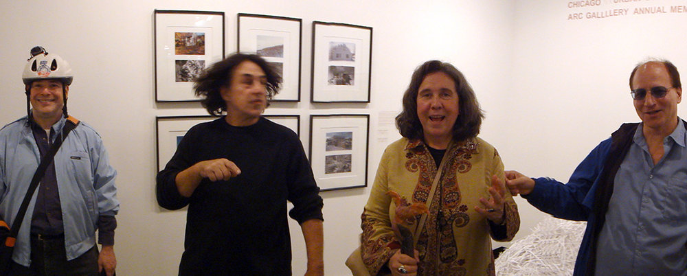 Peter Kostakis, Ron, Nanc and MM, blue man. ARC gallery.©2010 photo :David Bechtol
