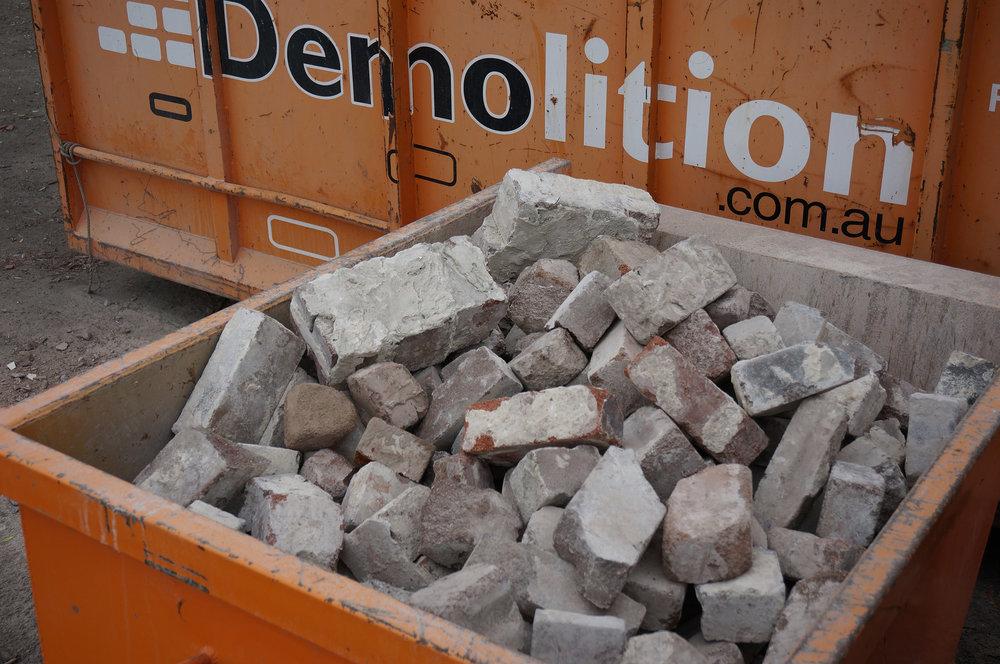 Recyling bricks is fun