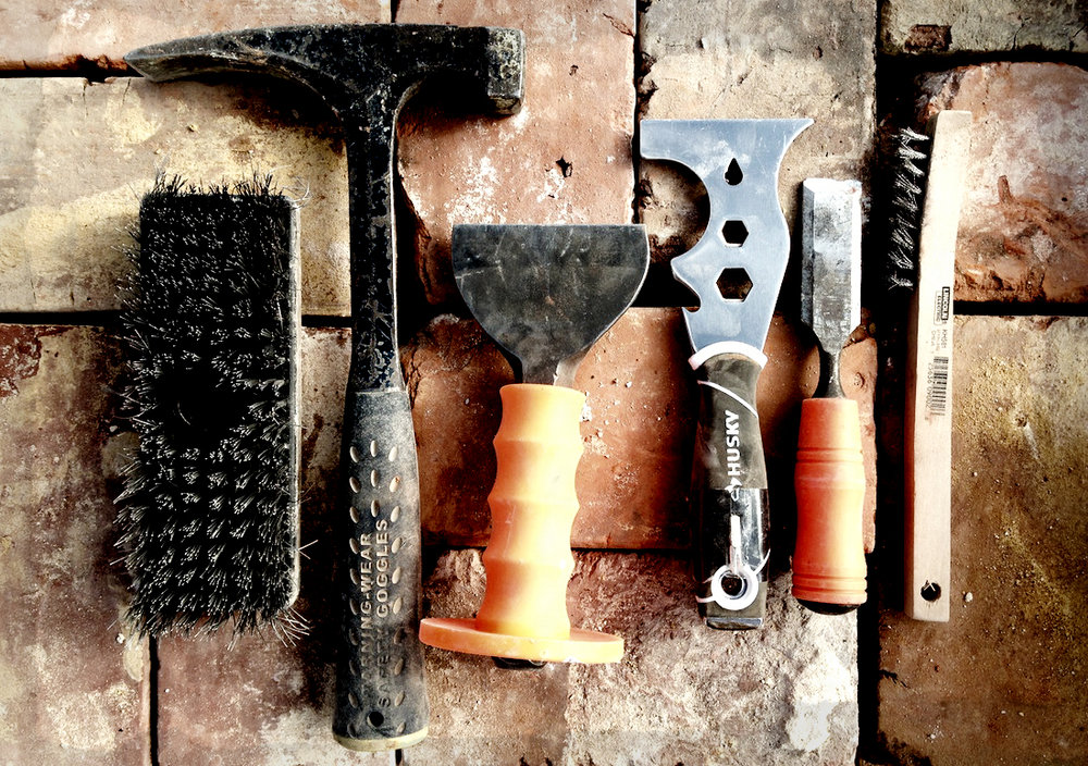 Brick cleaning tools