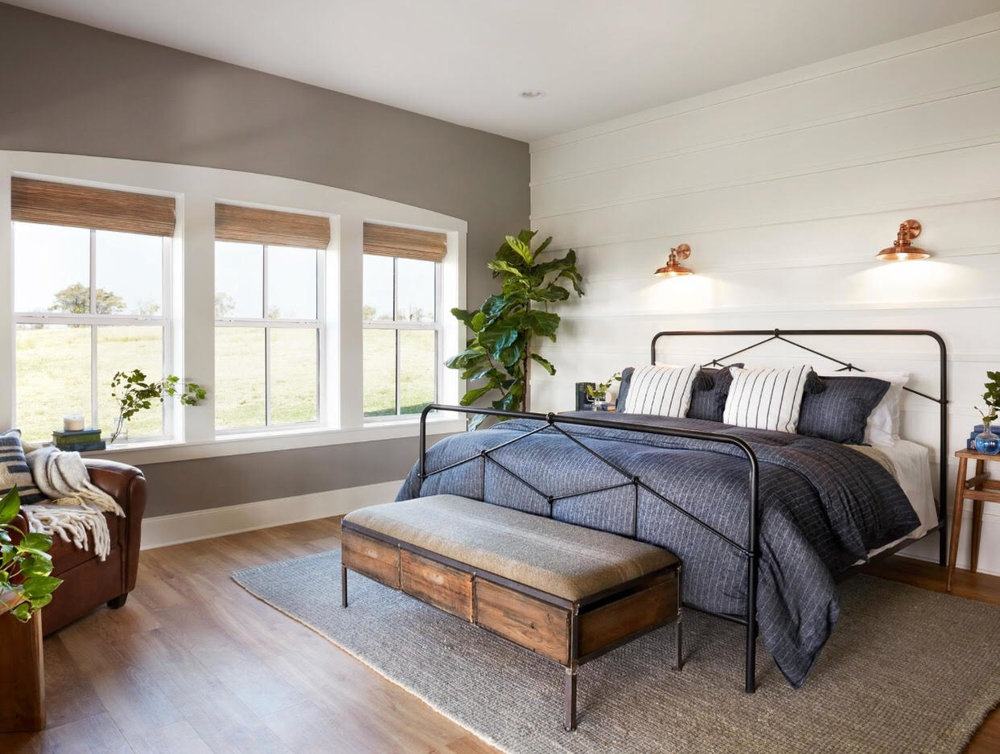 Make your bedroom YOUR ideal space.Your sanctuary.A space where you want to spend time.  Mine would look like this one designed by Johanna Gaines!