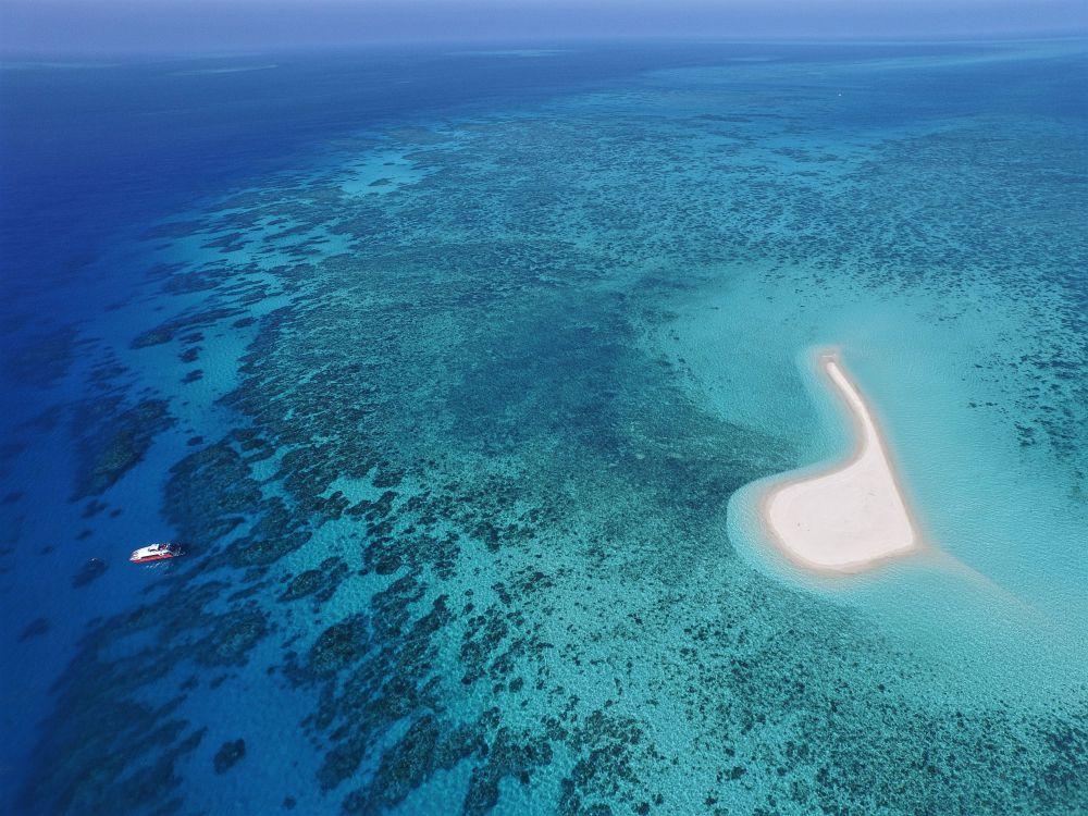 Drone shot at Sudbury Cay