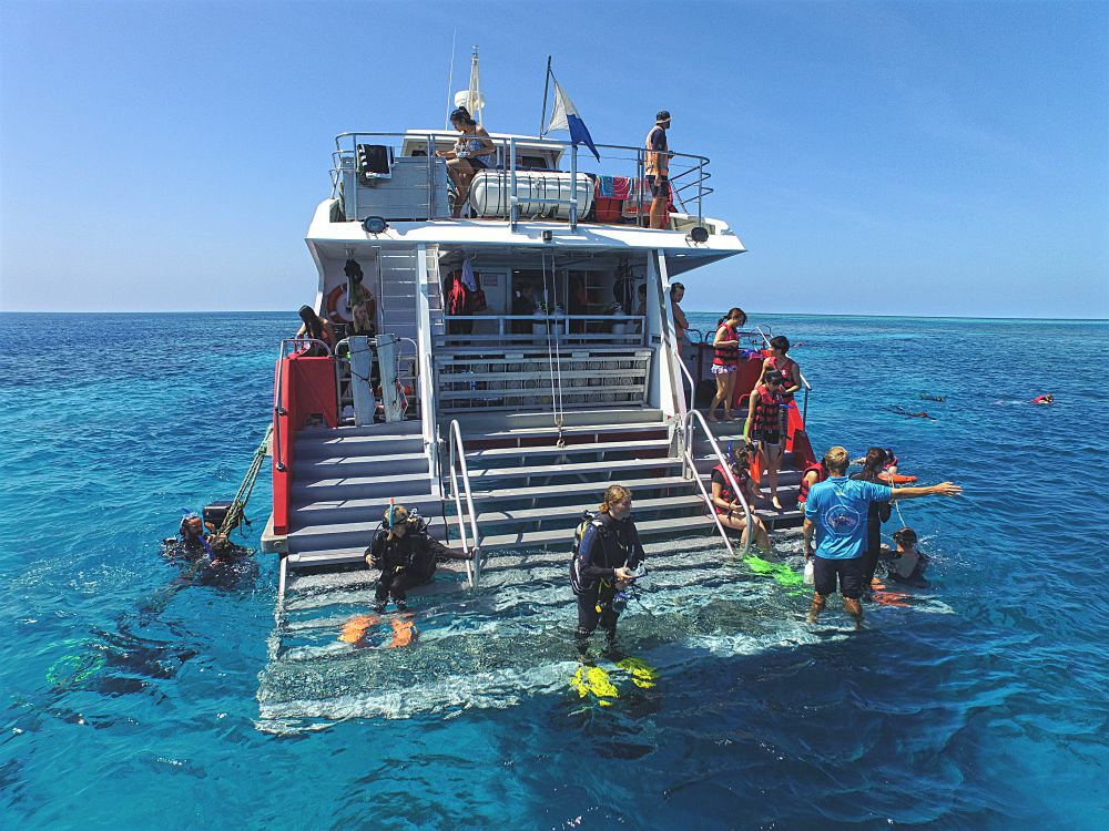 dive / snorkel deck at Briggs Reef