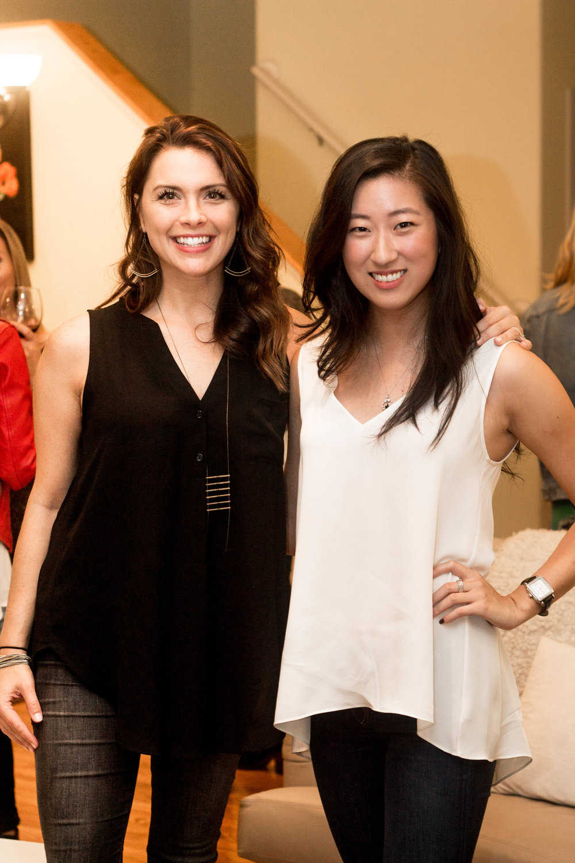 Left: Kelly Weber; Right: Julia Ko