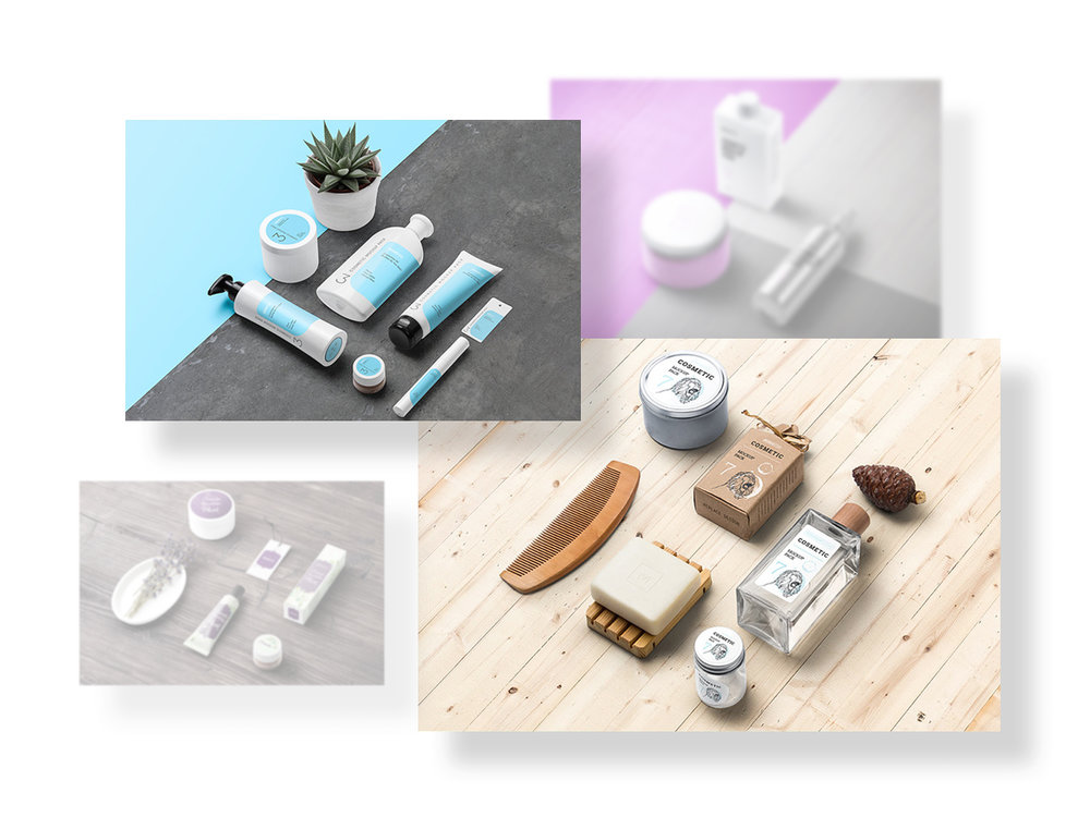 Perspective Mockups - We've shot many photos of various packages and items from different angels to help you create high quality and realistic presentations, to showcase your awesome products. You can customize label, surface textures and play with shadows & lights.Full Preview
