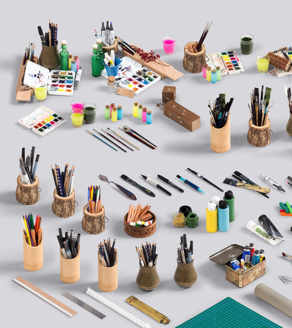Let's Paint and Sketch - We've included many different art discipline items. All assets for watercolor painters, oil painters, sketchers. Choose your weapon and ready for creating.Full Preview