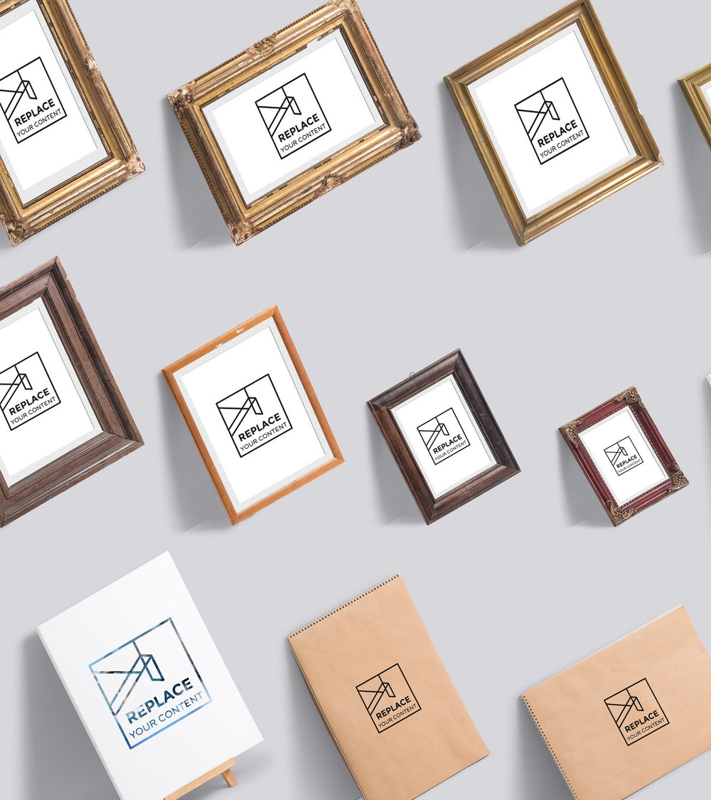 Prop Up Your Artwork - Frames, sketchbooks and canvases to prop up. No limit for creating unique presentations. Use one of them and create more realistic and dimensional showcase.Full Preview