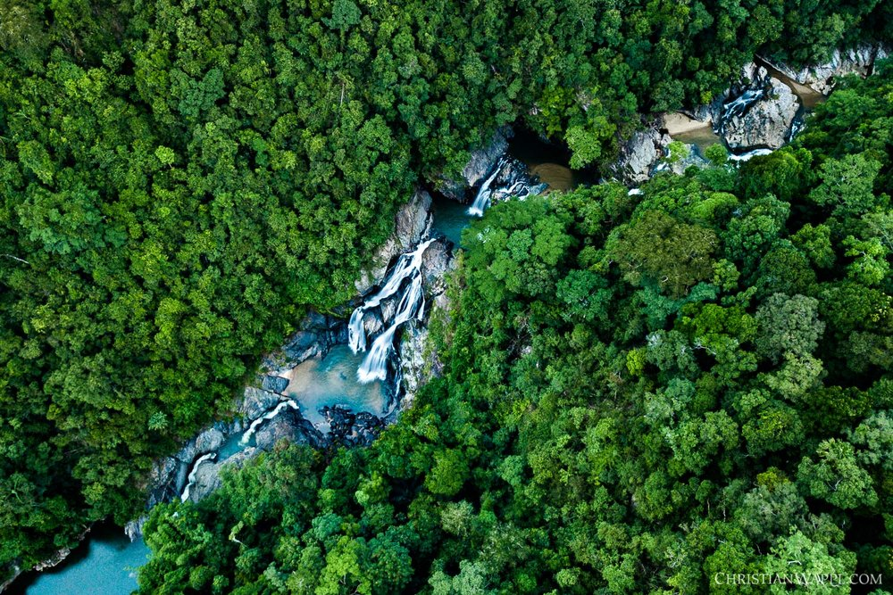Krung Ching waterfall from above, Thailand